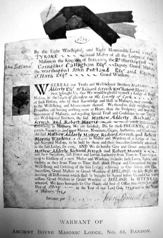 Bandon Warrant (No 84)