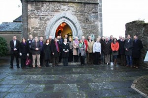 Picture of the group taken outside The Village Arts Centre, Kilworth, home to the recently refurbished stained glass window.